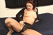 Redhead Tart Milks Four Big Juicy Cocks
