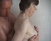 Slippery Granny Shower Sex and Fuck