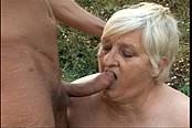 Wild Man Fucking Grandma in the Field