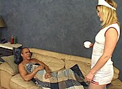 Naughty Nurse Attends to Her Patient