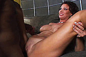 Sexy Cougar Rides Hard Black Stick