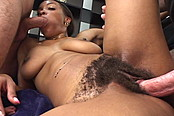 Super Hairy Pussy On This Black Harlot