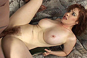 Hairy Redhead Gets Fucked And Sucked