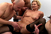 German Cougar Connie Carey Takes Five