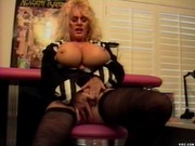Busty mama loves eating young man meat