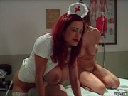 Enema nurse gives erotic rectal exam