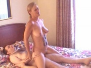 Hot blonde MILF Tiger fucks a horny geeky guy
