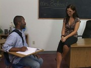 Teacher housewife gets drilled by student