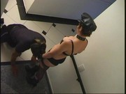 Naughty mistress Gisele and her slave