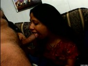 Horny Indian bitch loves stroking hard dicks