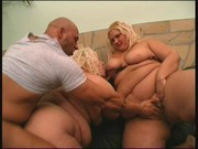 Two fat blonde babes conquer furious cock