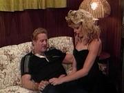 Alluring blondec bitch showered with semen