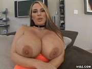 Mom with unbelievably huge pair of tits