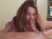 Mature slut pays gardener with suck and fuck
