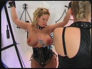 Mega boobed whore punished