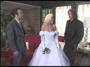 Bride in her first threesome fuck