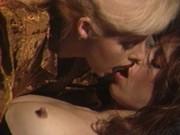 Two blonds wild sex show for horny gentleman